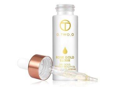 O.TWO.O 24k Rose Gold Elixir Skin Make Up Oil For Face Essential Oil Before Prim