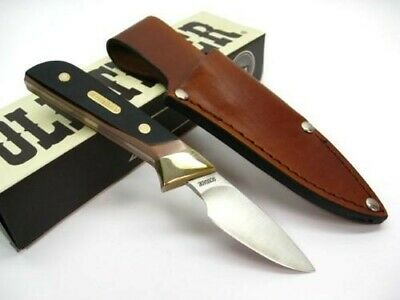 Schrade 156OT Old Timer Full Tang Lil Finger Fixed Knife + Leather Sheath