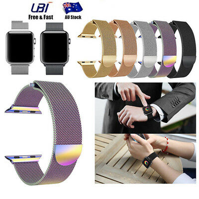 Magnetic Milanese Loop Band Strap Stainless Steel for Apple Watch 38mm/42mm New