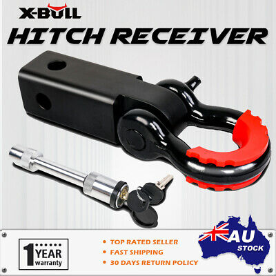 X-BULL Tow Bar Hitch Receiver Towbar 4WD Off Road Recovery 5T Kit Bow Shackle