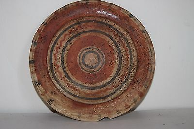 GOOD ANCIENT GREEK POTTERY PLATE 5/4th  CENTURY BC