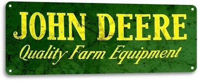 John Deere Farm Equipment Tractor Rustic Metal Decor