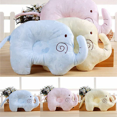Hot Baby Infant elephant Memory Pillow Prevent Flat Head Anti Roll Support Neck
