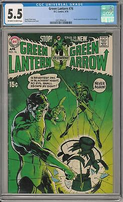 Green Lantern #76 CGC 5.5 (OW-W) 1st Green Lantern Green Arrow