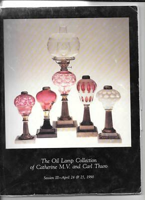 OIL LAMP COLLECTION  CATHERINE CARL THURO AUCTION CATALOG SESSION III w PRICES