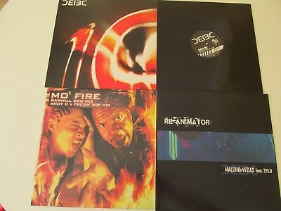 4 X Bad Company Uk Job Lot Vinyl The Fear Re-Animator Bullet Time Drum & Bass