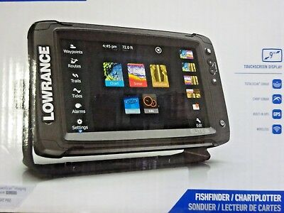 New Lowrance Elite-9 Ti GPS Fish Finder with DownScan Transducer 000-13273-001