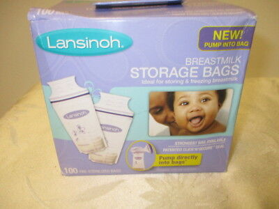 Lansinoh Breastmilk Storage Bags, 100 Count, BPA Free and BPS Free Packaging Ma
