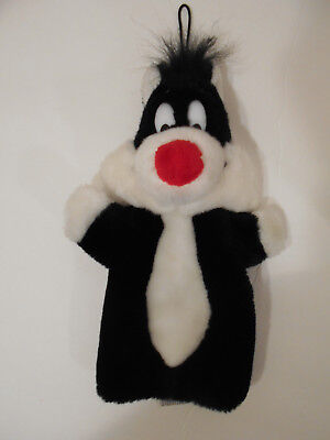 Looney Tunes 1989 Sylvester Plush Hand Puppet Mighty Star A