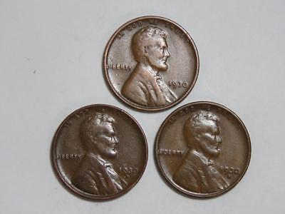 1930-P D S LINCOLN WHEAT CENT YEAR SET