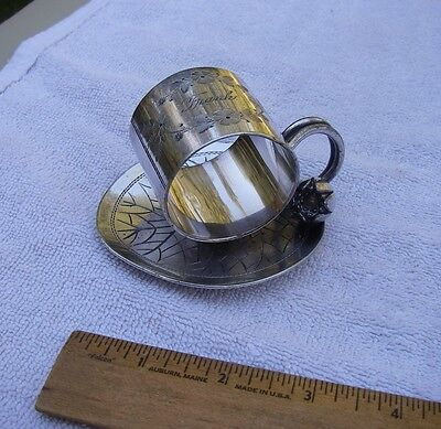 Good MERIDEN BRITANNIA CO Silverplate WATER LILY FIGURAL Napkin Ring #168-FRANK