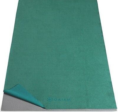 Gaiam No-Slip Yoga Mat Towel, Turquoise Sea