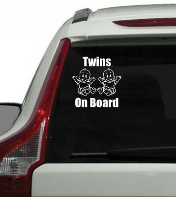 Window Car Sign/Decal Twins On board babies