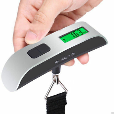 50kg/110lb Electronic luggage Scale Digital Portable Suitcase Travel Bag Weight