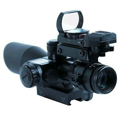 New Compact 2.5-10X40 Riflescope w/Red Laser&Green-Red Dot Holographic Sight