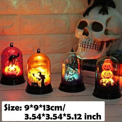 2018 Halloween Witch Cat Flame Light Lamp Party Bar Hanging Decor LED Lantern