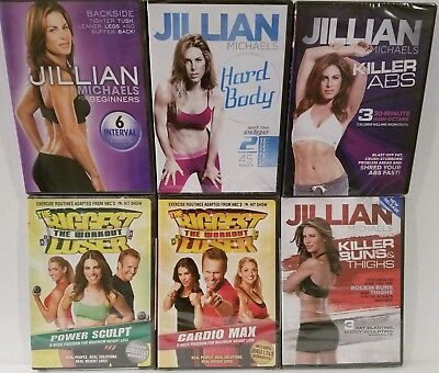NEW 20-ON-6 JILLIAN MICHAELS WORKOUTS ABS, BUNS, 6-WEEK, HARD BODY +FREE Bonuses