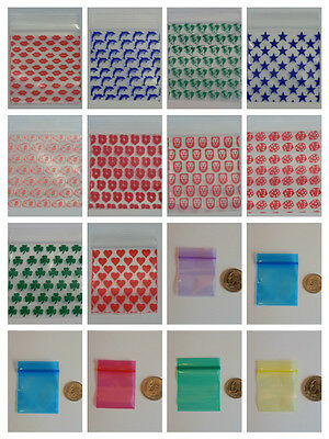 100 ZIPLOCK BAGS Baggies - YOU CHOOSE The Size, Design and Color - HUGE SALE !!