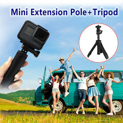 Mini Camera Extension Pole + Tripod Plastic Adjustable Selfie Stick For GoPro