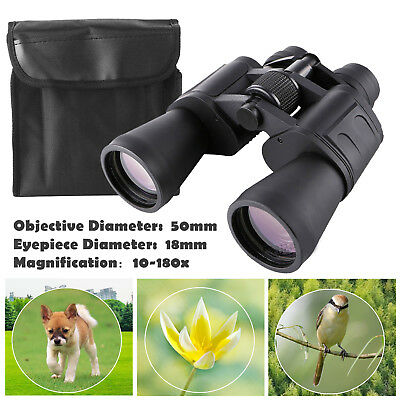 10-180x100 Zoom Binoculars Telescope Waterproof Outdoor Hunt Day Vision With Bag