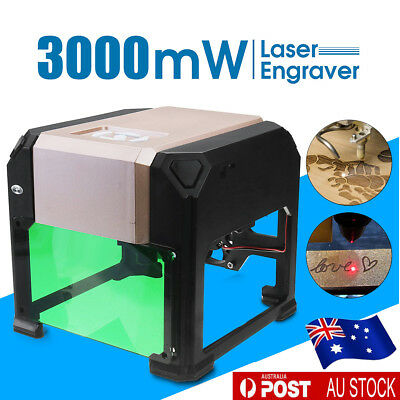 Real 3000mW Mini USB Laser Engraver Printer Cutter Carver DIY Logo Maker Machine