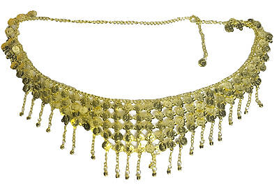 Gold Coin Belt Chain Body Jewellery Belly Dancer Gypsy Fancy Dress Women Adult