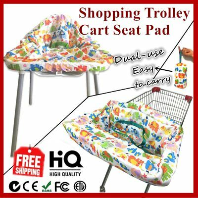 Baby Shopping Trolley Cart Seat Pad Kid Child High Chair Cover Protective Mat HT