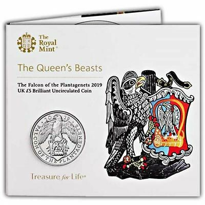 PRE-ORDER The Falcon of the Plantagenets 2019 UK £5 Brilliant Uncirculated Coin