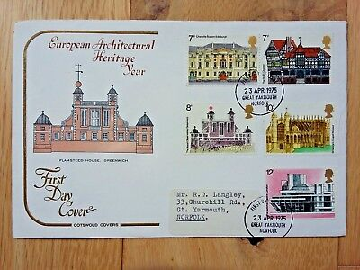 European Architectural Heritage Year Stamps First Day Cover 1975