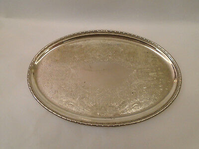 Attractive Antique / Vintage Mappin & Webb Silver Plated Card Tray / Platter