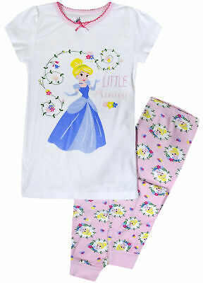 Baby Girls Pyjama Set Girl Disney Princess Cotton Pajama PJ Ages 9 - 36 Months