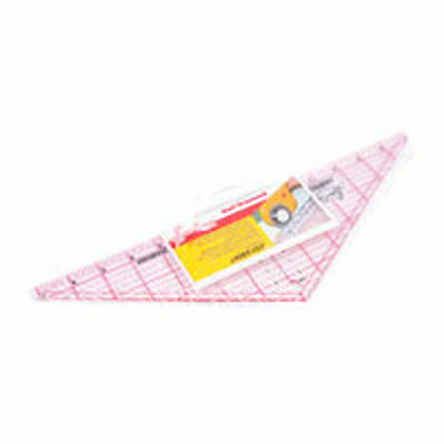 Quilting Quiltmaking Patchwork Ruler Half Diamond 14-1/2 x 4-1/2 inches