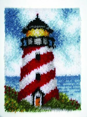 """Sailors Beacon Latch Hook Kit 15x20"""" By Caron Wonderart No tool included"""