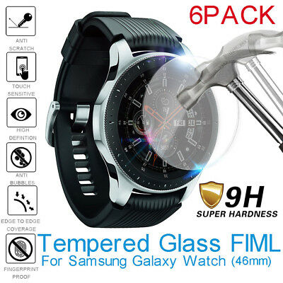 6Pack 2.5D Tempered Glass Screen Protector Film For Samsung Galaxy Watch (46mm)