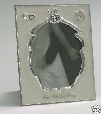"""Gift - Our Wedding Day Photo Picture Frame 8x10""""  NEW"""