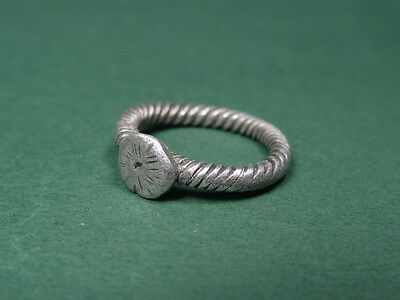 Ancient Silver Ring Byzantine 300-500 Ad