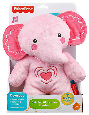 Fisher Price Calming Vibrations Soother Pink Elephant 10 Min *new*