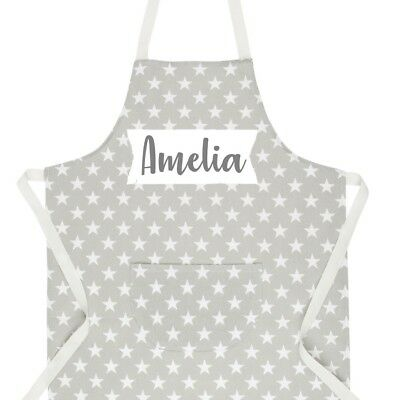 Kids Personalised Star Apron Sass & Belle Baking Cooking Customised Printed Name