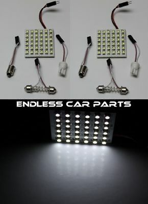 White HID Xenon Lamp 6000k Map Dome Interior Light Bulb 36 SMD LED Panel - Pair
