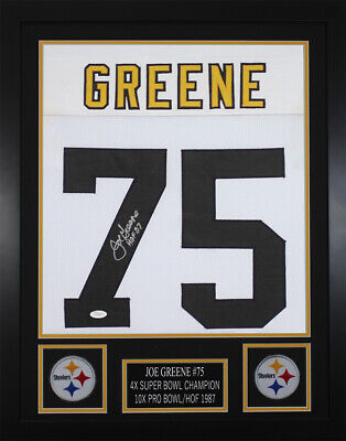 fe8b1cb33fd JOE GREENE SIGNED Pittsburgh Steelers White