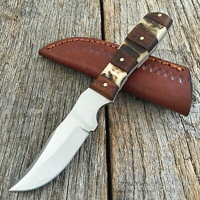 STEEL STAG Genuine Deer Stag Skinner Hunting Knife NEW W/ Leather Sheath SS-7027