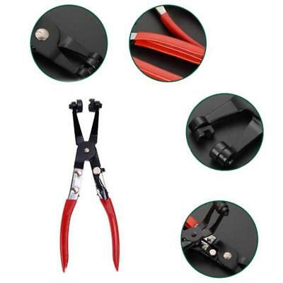 Car Pipe Hose Clamp Pliers Fuel Coolant Angled Swivel Jaw Flat Band Ring Tool Q