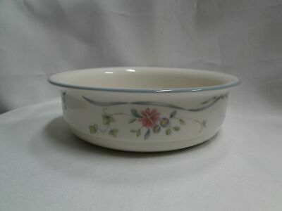 """Lenox Country Cottage Courtyard, Blue Trim: Soup / Cereal Bowl AS IS 6 1/4"""""""