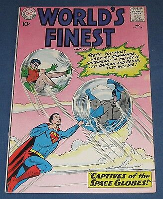 World's Finest Comics #114 Dec 1960 Captives Of The Space Globes!