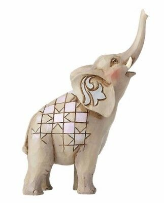 Jim Shore Heartwood Creek Miniature Elephant with Raised Trunk Figurine 4055059