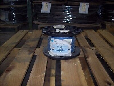 #12 Gauge THHN Stranded New Surplus Condition 500 Feet, Blue FREE SHIPPING