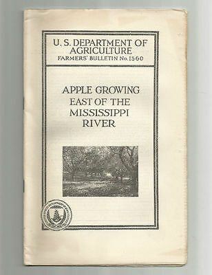 Apple Growing East of the Mississippi River 1924 USDA Farmers Bulletin No. 1360