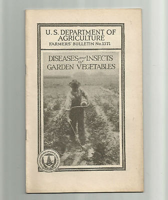 Diseases and Insects of Garden Vegetables 1927 USDA Farmers Bulletin No. 1371