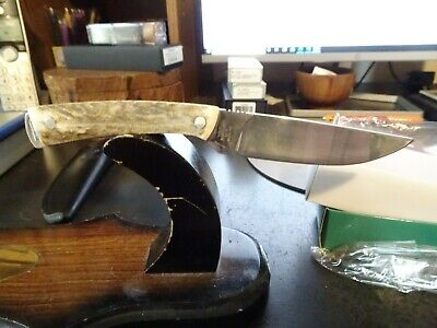 """Hen & Rooster Stag Handle Fixed Blade Knife Model Hr-5019 7 1/4"""" Oa 440C German"""