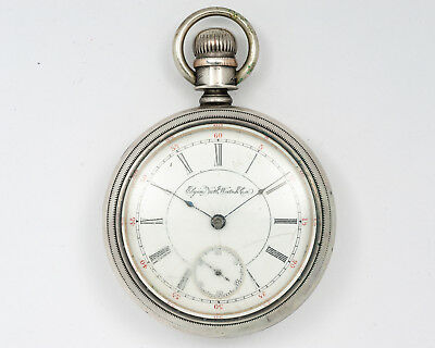 Antique Elgin 15j Pocketwatch with Train on Case! Circa 1894